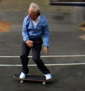 old skateboarder
